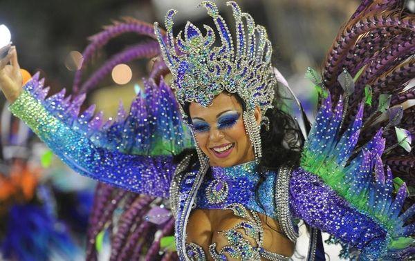 Макияж бразильский карнавал